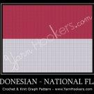 Indonesian National Flag - Afghan Crochet Graph Pattern Chart