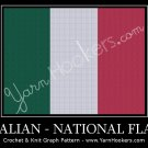 Italian National Flag - Afghan Crochet Graph Pattern Chart