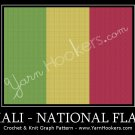 Malian National Flag - Afghan Crochet Graph Pattern Chart
