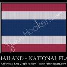 Thai National Flag- Afghan Crochet Graph Pattern Chart