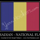 Chadian National Flag- Afghan Crochet Graph Pattern Chart