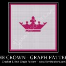 Pink Majestic Crown - Afghan Crochet Graph Pattern Chart