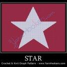 Star - Afghan Crochet Graph Pattern Chart