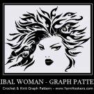 Celtic Tribal Woman - Afghan Crochet Graph Pattern Chart