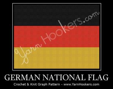 German National Flag - Afghan Crochet Graph Pattern Chart