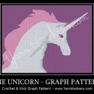 Mythical Unicorn - Afghan Crochet Graph Pattern Chart by Yarn Hookers.com