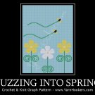 Buzzing Into Spring - Afghan Crochet Graph Pattern Chart