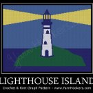 Lighthouse Island - Afghan Crochet Graph Pattern Chart