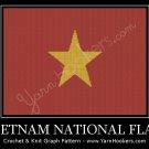 Vietnam National Flag - Afghan Crochet Graph Pattern Chart