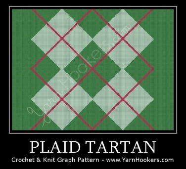 Plaid Tartan - Afghan Crochet Graph Pattern Chart