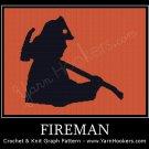 Fireman - Afghan Crochet Graph Pattern Chart