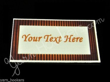 Skew - Iron On / Sew In - 100% Cotton Fabric Labels (White)