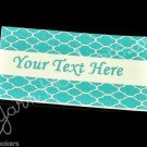 Blue Shells - Iron On / Sew In - 100% Cotton Fabric Labels (White)