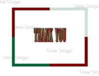 20 Thank You Cards - Pick Up