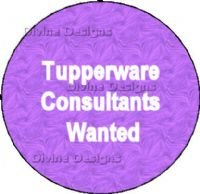 Tupperware Consultants Wanted Button - Shipped