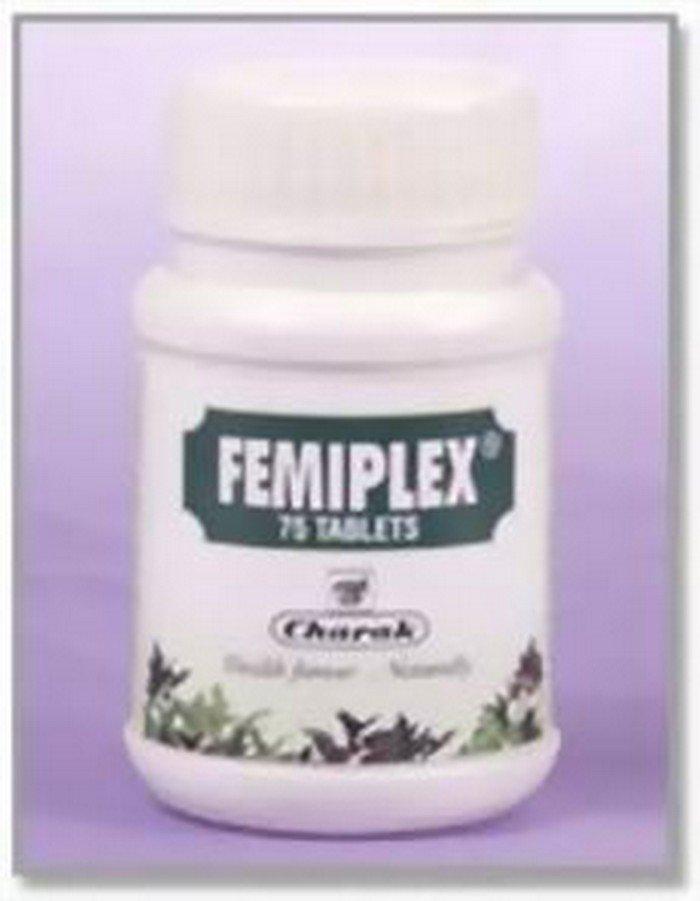 3 LOT X Charak Femiplex (75 Tablets x 3 ) - Silver coated natural vaginal astringent