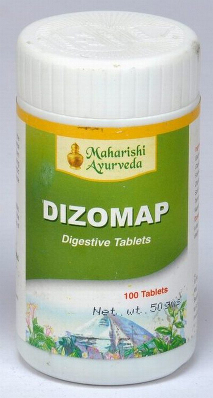 2 LOT X Maharishi Ayurveda Dizomap Tablets (100 Tablets)- Regulates peristalsis/Digestive disorders