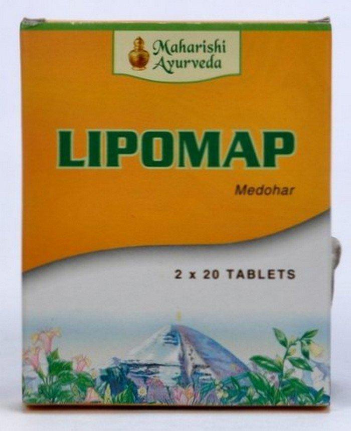 2 LOT X Maharishi Ayurveda Lipomap tablets (40 Tablets)