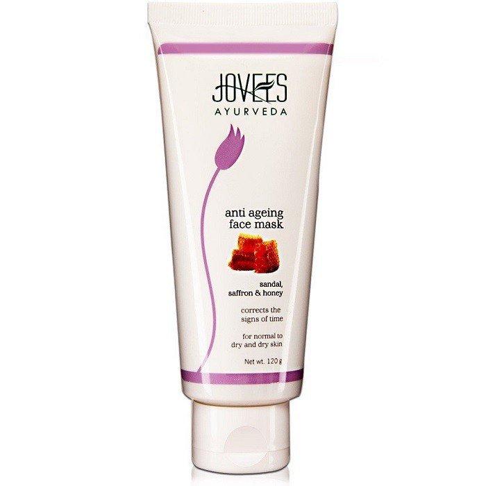 2 LOT X Jovees Ayurveda Sandal, Saffron & Honey Anti Ageing Face Mask - 120 Gms