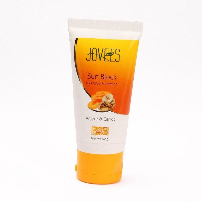 2 LOT X Jovees Anjeer & Carrot Sunblock with SPF 45 - 50gms
