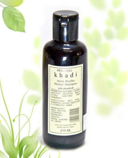 2 LOT X Khadi Shampoo With Amla & Reetha (210 ml)