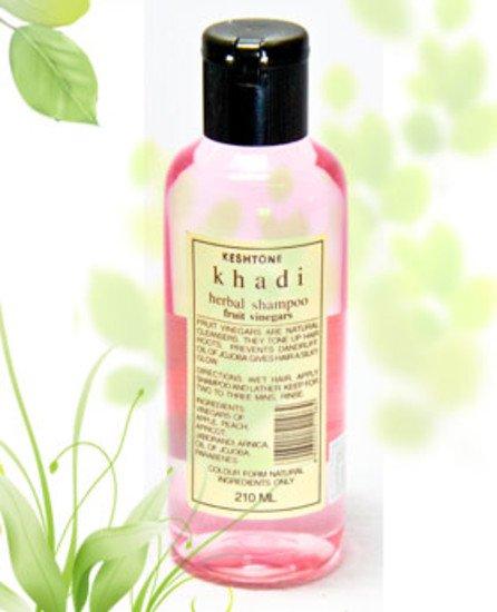 2 LOT X Khadi Fruit Vinegar Shampoo With Oil Of Jojoba (210 ml)