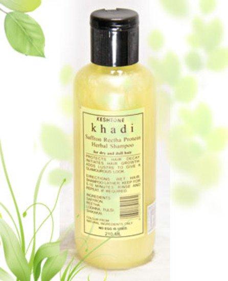 2 LOT X Khadi Shampoo With Saffron & Reetha (210 ml)