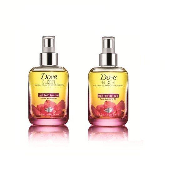 2 LOT X Dove Elixir Hair Fall Rescue Hair Oil (90 ml) - Pack Of 2