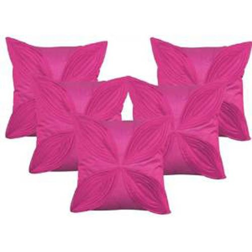 """Floral Pattern Cushions Cover (Pack of 5) - Purple - 16""""x 16"""""""