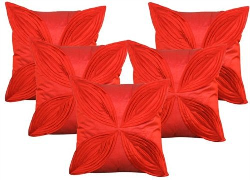 """Foral Pattern Cushions Cover (Pack of 5) -16""""x 16"""" - Rust"""