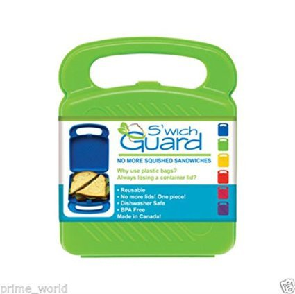 Sandwich Guard Protector Container Storage Case Keeper Kids Lunch Box - Green
