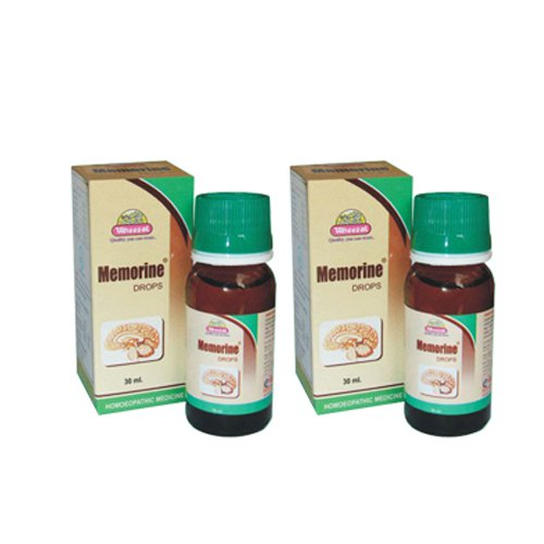 2 x Wheezal Homeopathy - Memorine Drops.(Pack of 2)