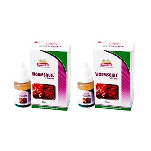 2 x Wheezal Homeopathy- Wormsquil Drops.(Pack of 2)