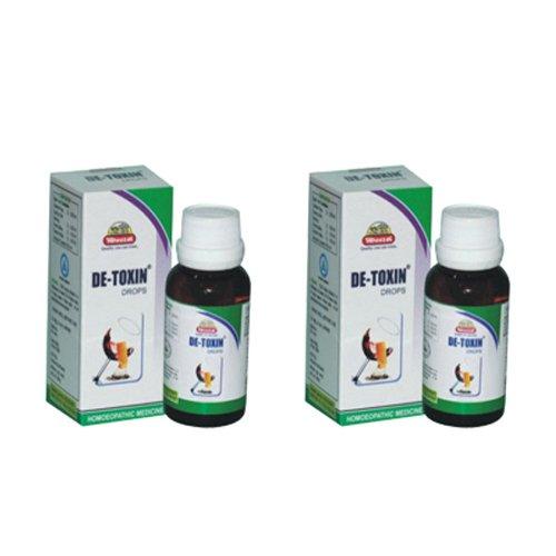 2 x Wheezal - Homeopathy - De-Toxin Drops.(Pack of 2)