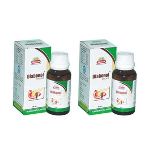 2 x Wheezal - Homeopathy - Diabonol Drops.(Pack of 2)