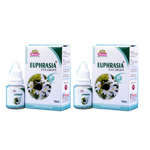2 x Wheezal - Homeopathy - Euphrasia eye Drops.(Pack of 2)