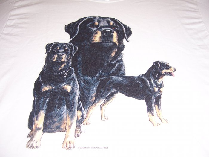 New Rottweiler T-shirt Adult Large Item # 30