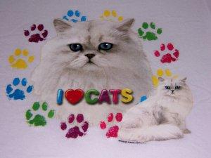 New I Love Cats Youth Medium Item # 1