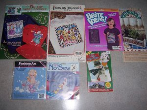 Crafter's Bundle new no sew appliques,iron-on transfers,& border Mates