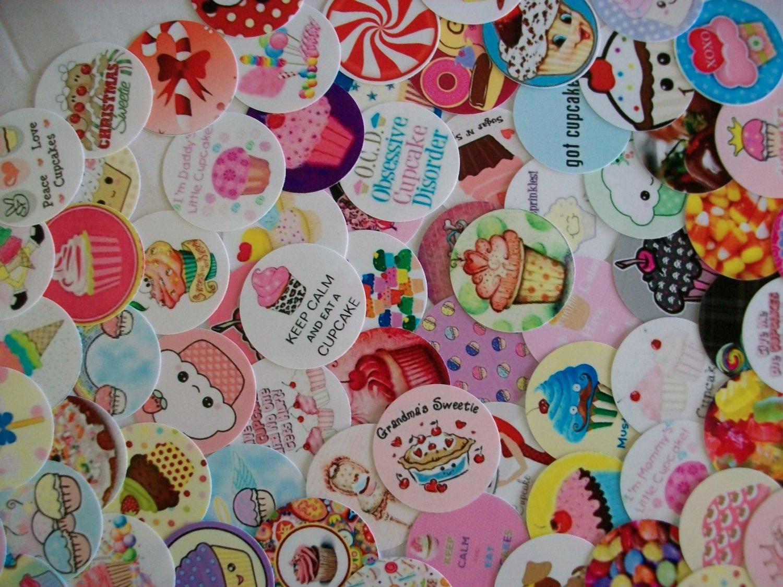 "Sweet Treats 1"" Round Images"
