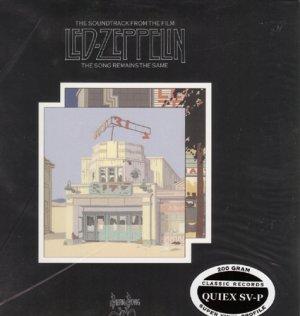 Led Zeppelin, The Song Remains The Same. 200 Gram 33rpm Sealed Vinyl 2LP Set