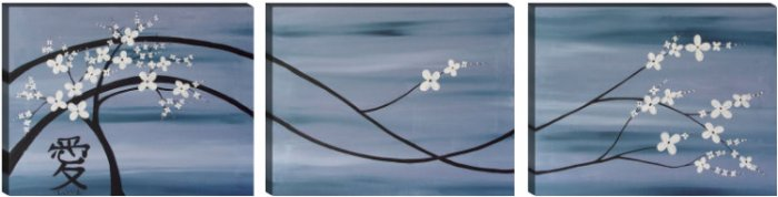 Asian Floral Tree Abstract FENG SHUI Painting LOVE