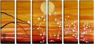 Huge Feng Shui Floral Asian Abstract Tree Painting-Sunset