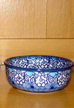 Polish Pottery Bowl Condiment  Lu Boleslawiec Poland