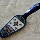Polish Pottery Unikat Signed Dessert Server New Hope Boleslawiec Poland