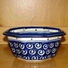 Polish Pottery Bowl 8 Side Veggie Boleslawiec Poland