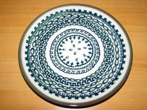 Polish Pottery  Dessert Plate Exclusive Unikat  Boleslawiec Poland