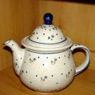 Polish Pottery Teapot Coffee Pot  Meadow Zaklady Ceramiczne Boleslawiec Poland