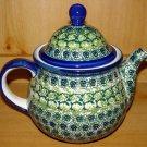 Polish Pottery Teapot Coffee Pot Shannon Unikat  Artist Handsigned Boleslawiec Poland