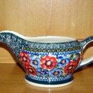 Polish Pottery Stoneware Boleslawiec  Unikat Gravy Boat Art 129 Signed!